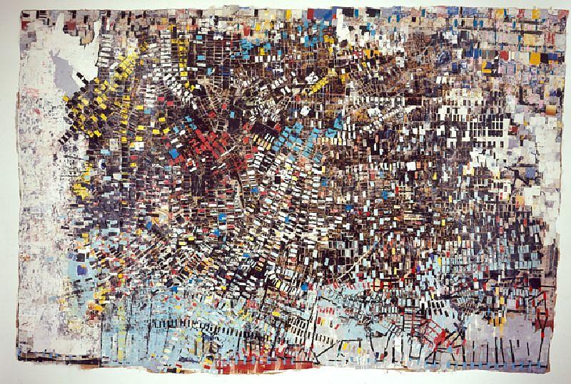 Mark Bradford, Black Venus 2005, Mixed media on canvas