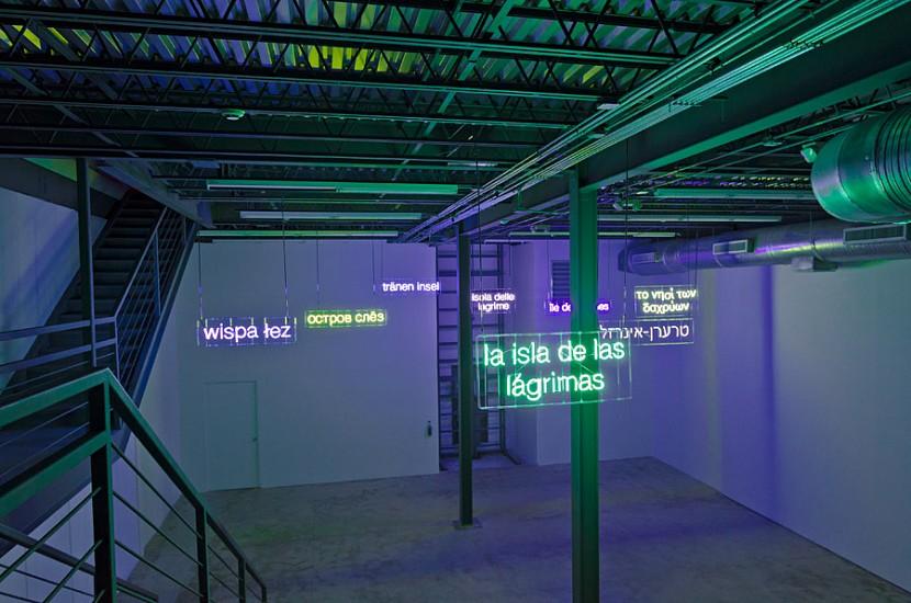 Claire Fontaine, La isla de las Lagrimas (isola delle lagrime) 2012, Neon