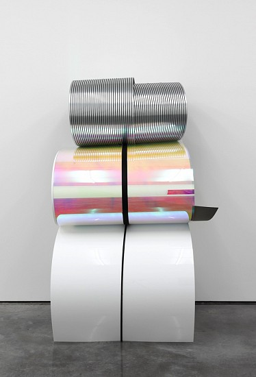 Julia Dault, Untitled 23, 8:30 AM -12 PM, July 15, 2012 2012, Plexiglass, formica, tambour, everlast boxing wraps, string
